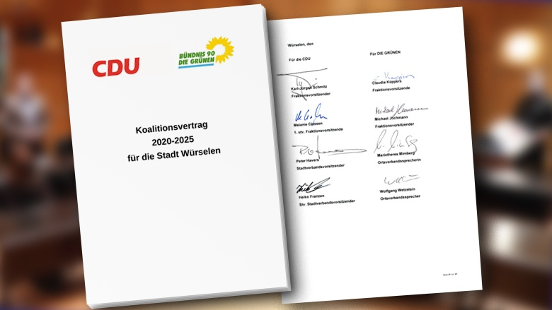 Koalitionsvertrag Dokument