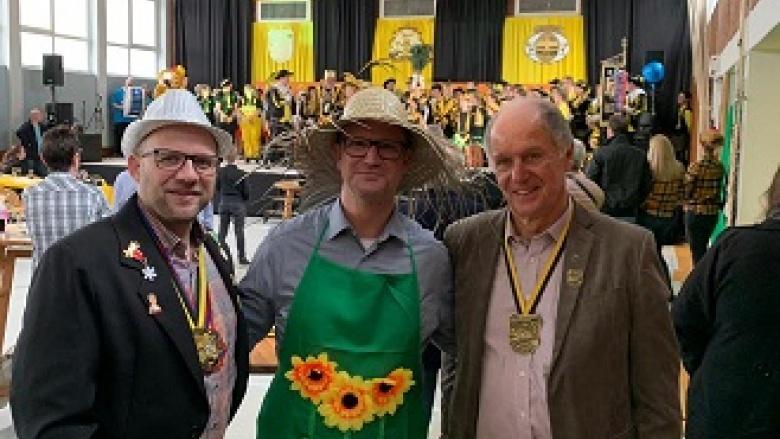 CDU Bürgermeisterkandidat Roger Nießen mit Werner Breuer und Heiko Franzen CDU Bardenberg