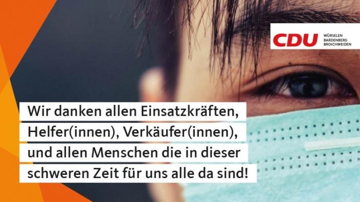 Die CDU Würselen Dankt allen Hilfskraften
